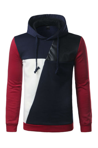Leather Stitching Hoodie