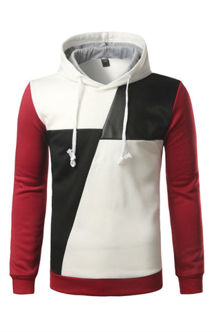 Color Block Patched Hoodie