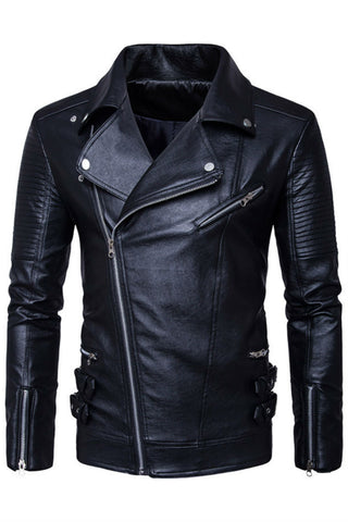 Locomotive Slim Fit Leather Jacket
