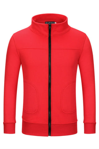 Zipper Solid Sport Jacket