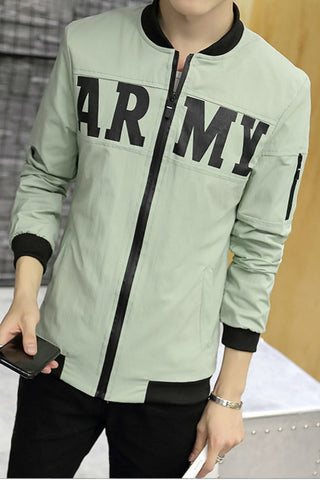 Green Jacket With Army Print