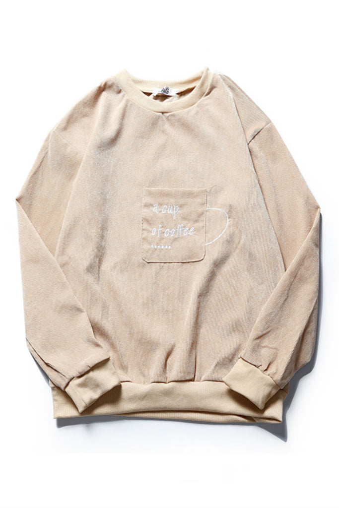 Letter Corduroy Sweater