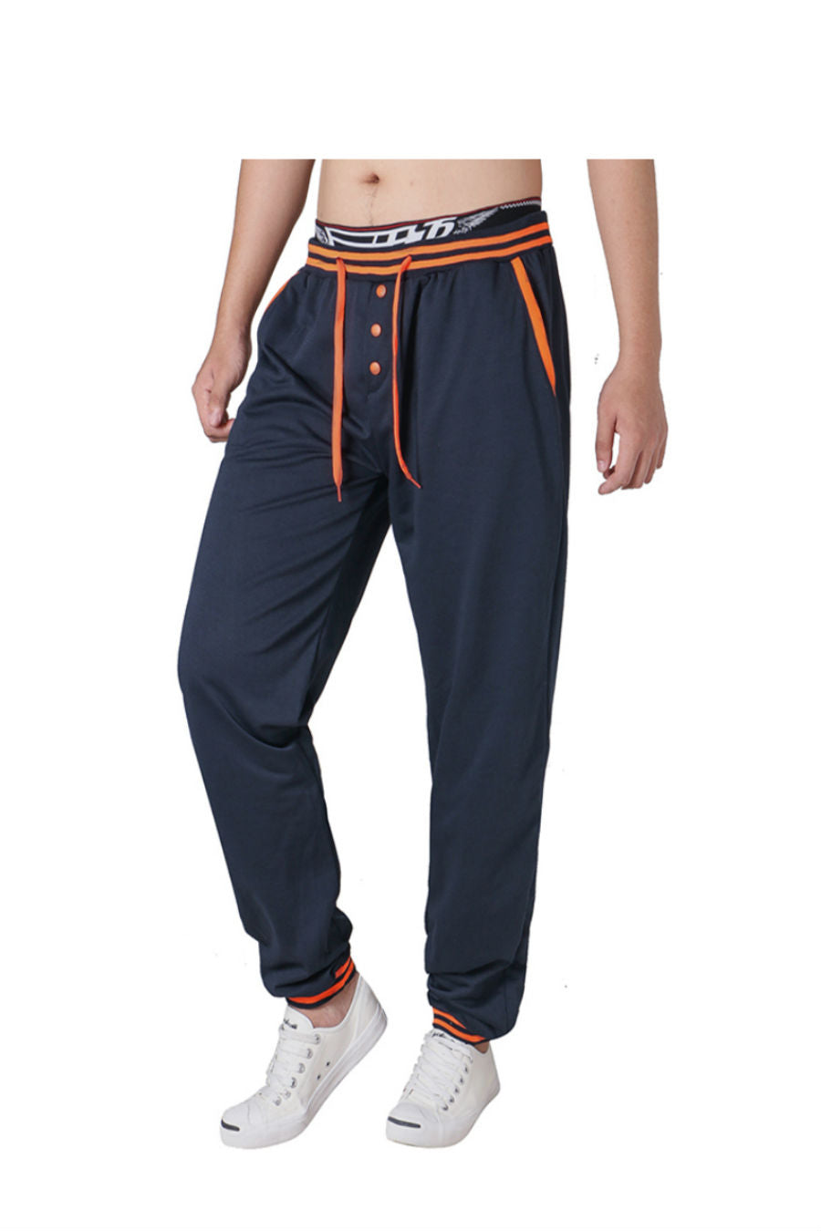 Navy Drawstring Leisure Pants