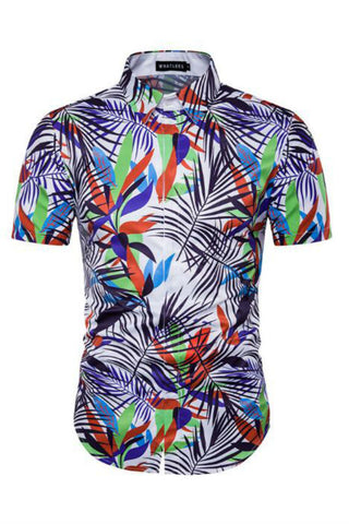 Foliage Prints Short-Sleeved Shirt