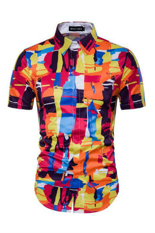 Multicolor Short-Sleeved Shirt