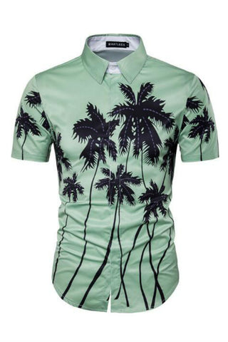 Palm Tree Short Sleeves Shirt