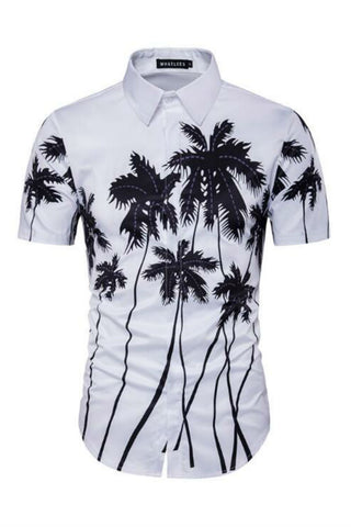 White Retro Short Sleeves Shirt