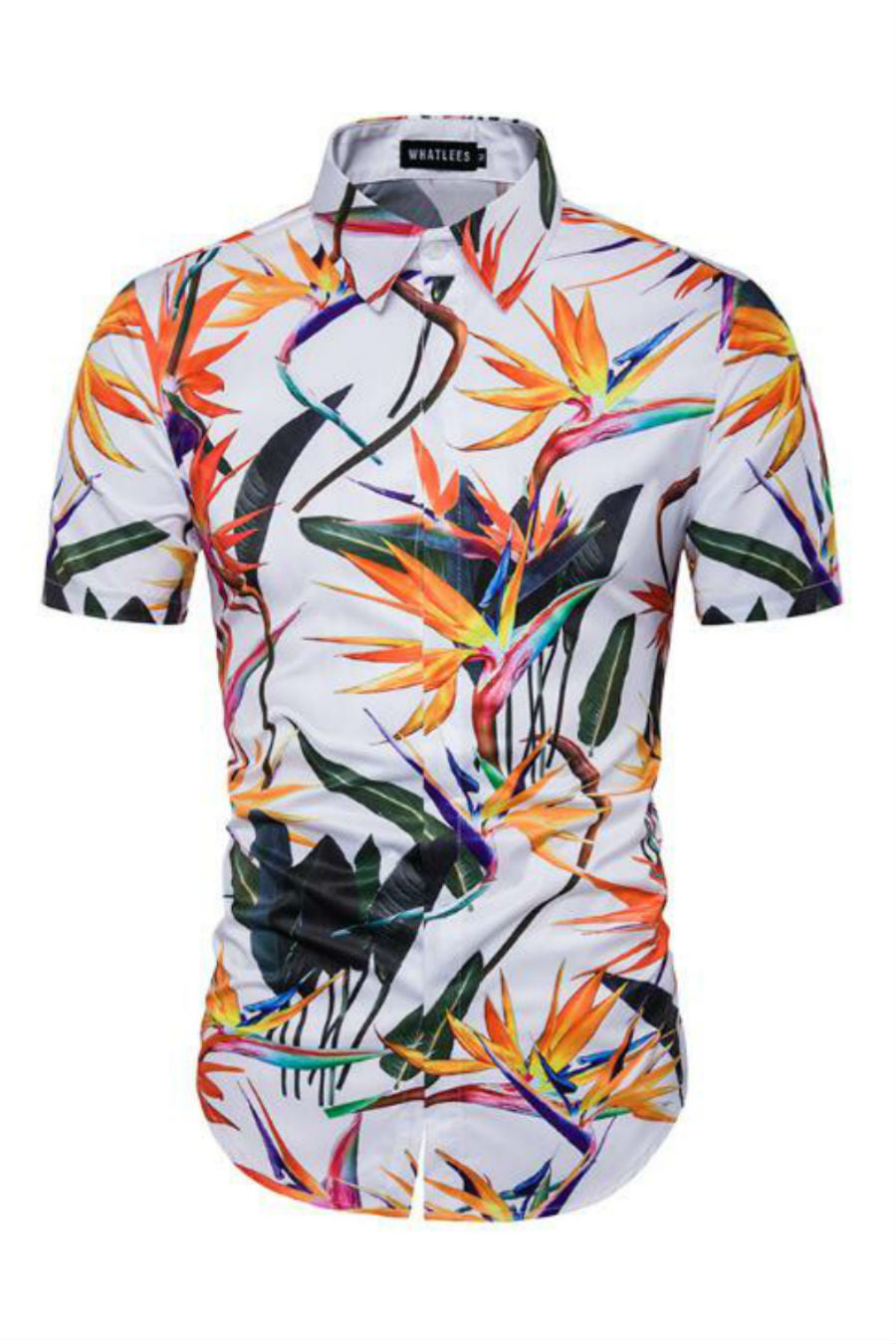 Vintage Printed Short-Sleeved Shirt