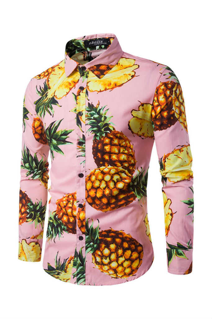Pineapple Prints Shirt In Pink