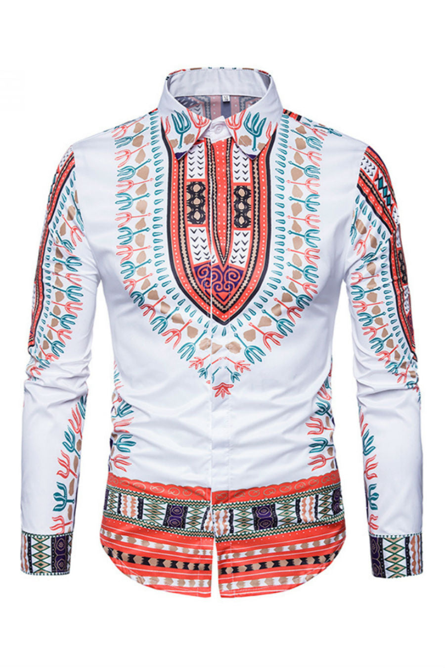 Ethnic Pattern Print Shirt