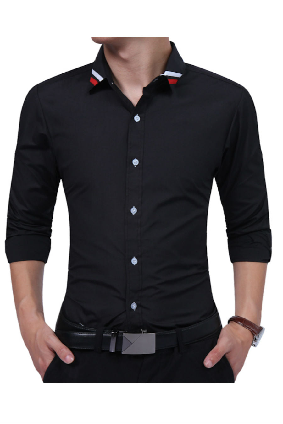 Elegant Slim Fit Black Shirt