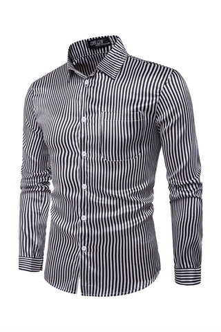 Black Strips Long Sleeve Shirt