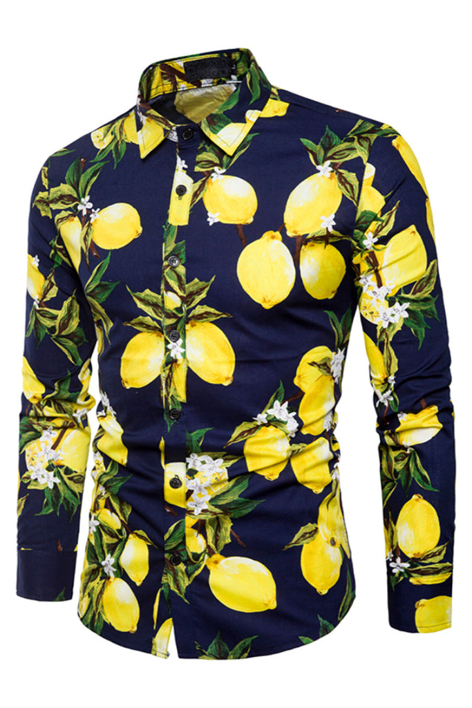 Lemon Print Shirt