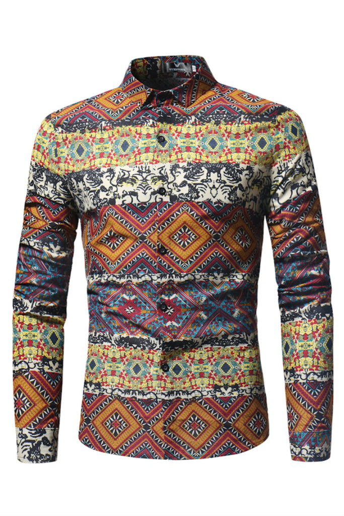 Ethnic Tribal Print Shirt