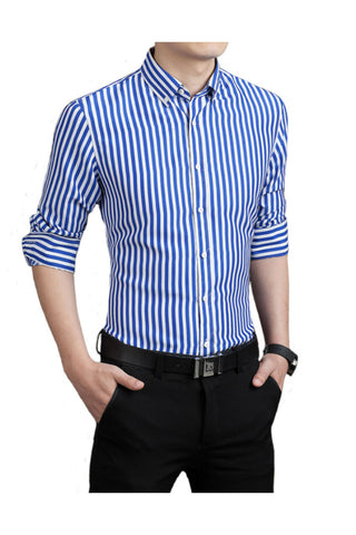 Blue Stripe Slim Fit Shirt
