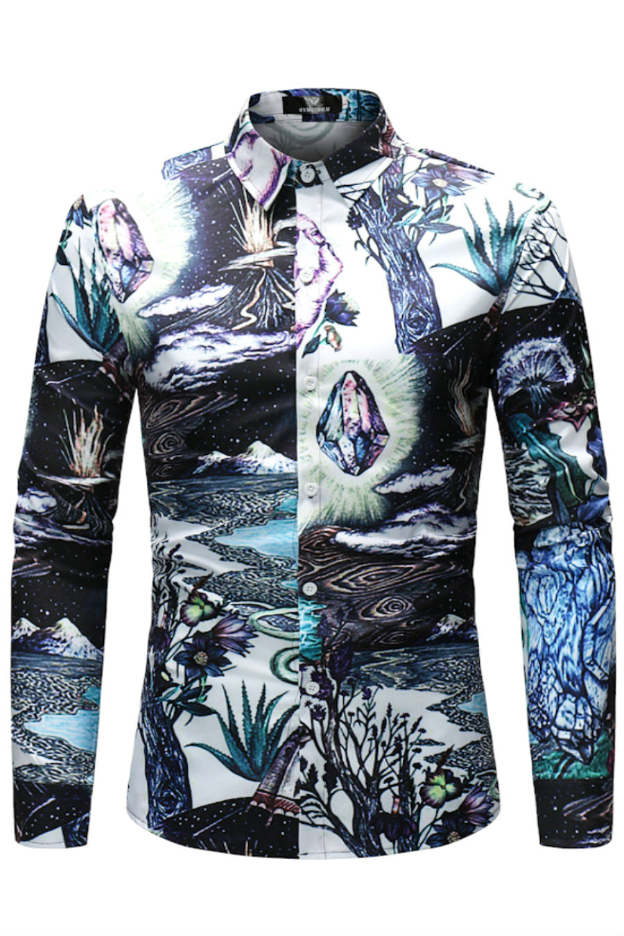 Natural Graphic Print Shirt