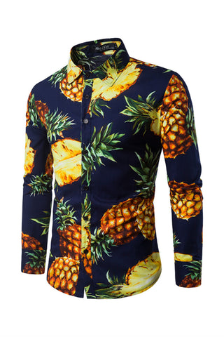 Pineapple Prints Shirt In Navy