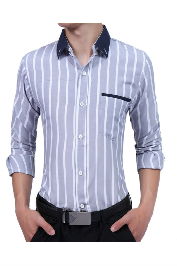 Light Gray Striped Shirt