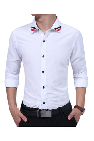 Elegant Slim Fit White Shirt
