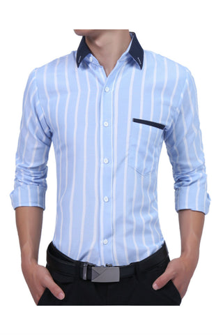 Light Blue Stiped Shirt