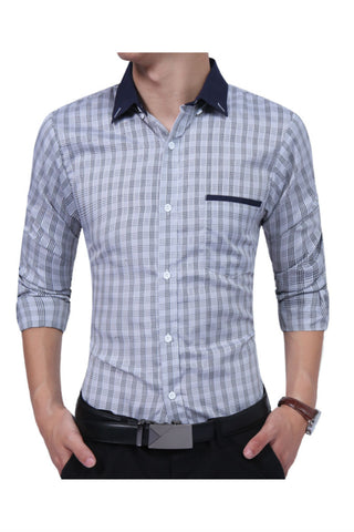 Light Gray Plaid Shirt