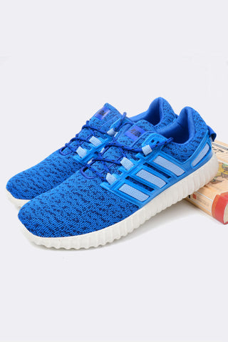 Blue Breathable Running Sneakers