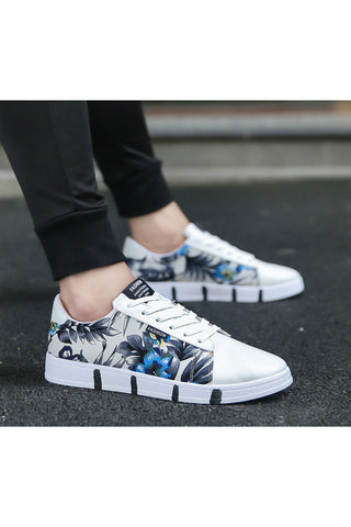 Floral White Sneakers