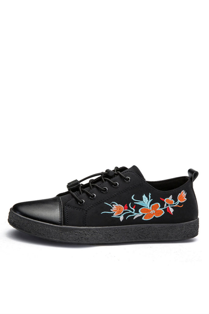 Floral Embroidery Sneakers