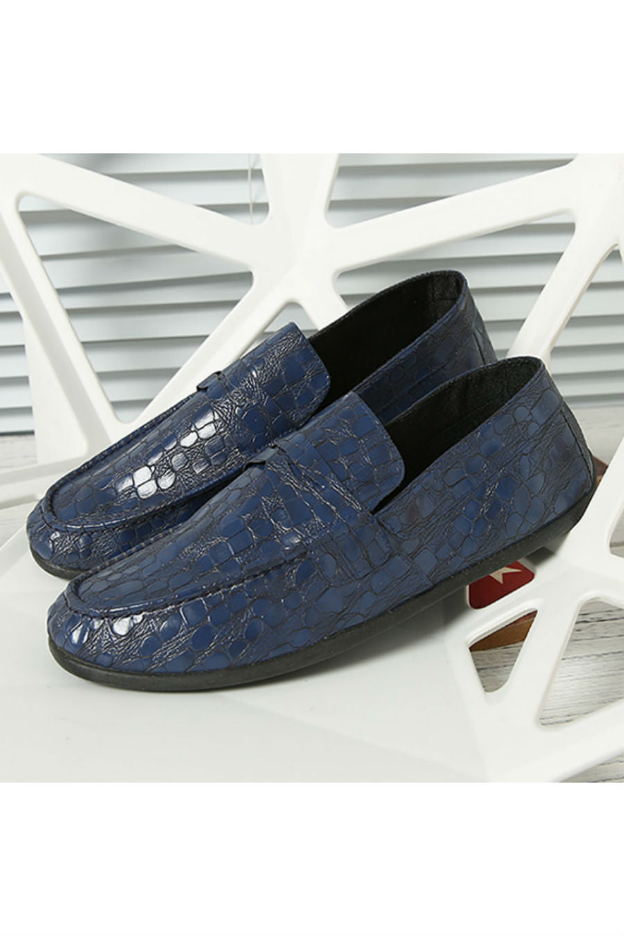 Navy Patent Casual Loafers