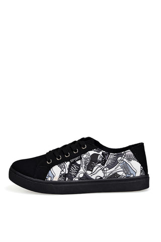 Black Graffiti Sneakers