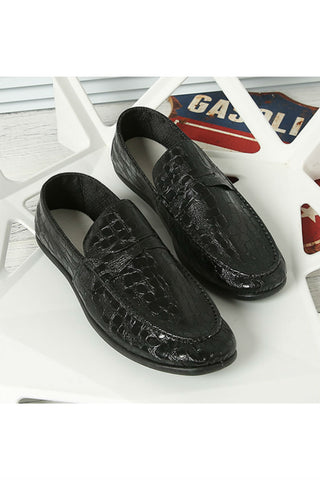 Black Patent Casual Loafers