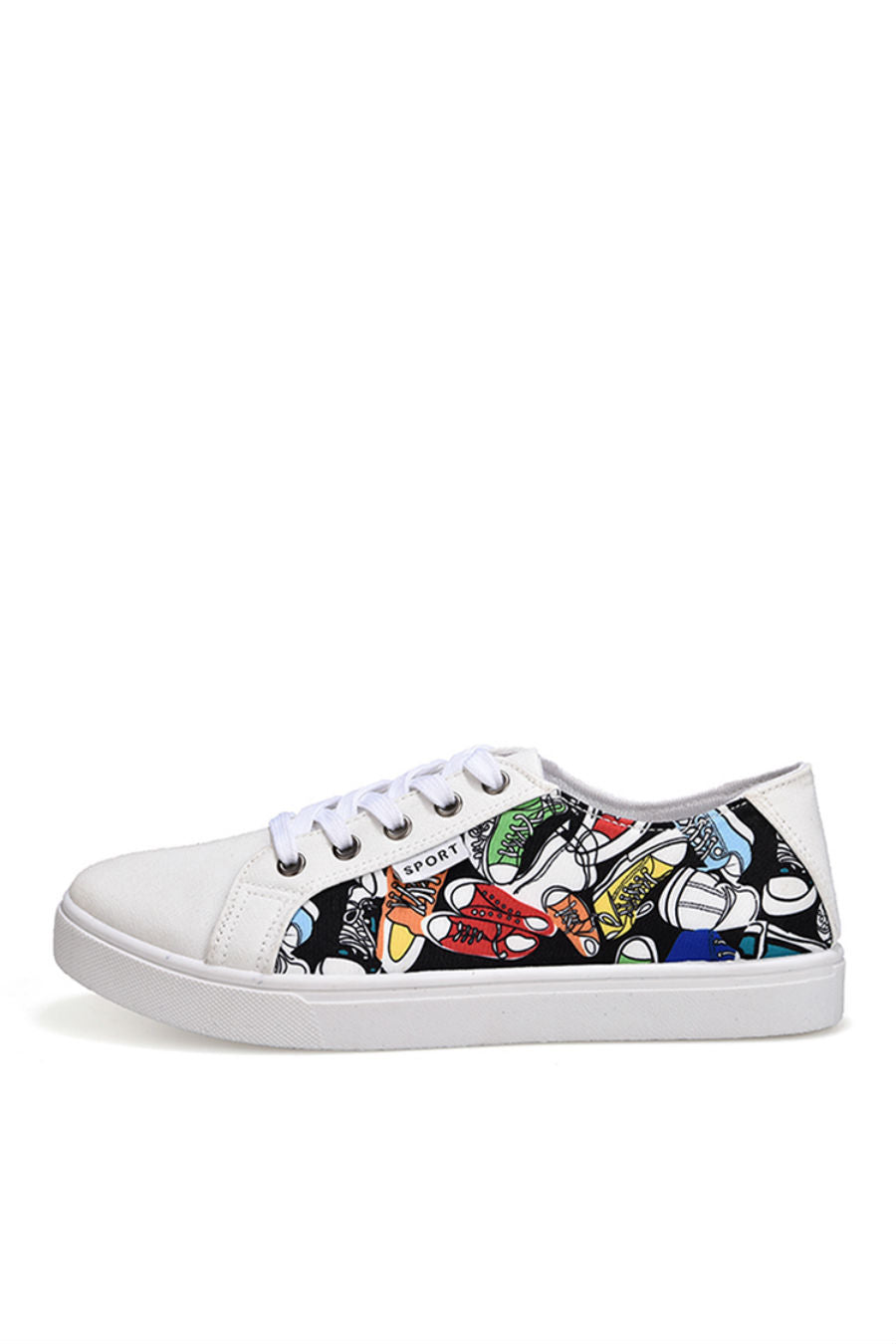 White Graffiti Sneakers