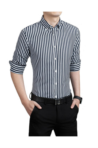 Black Stripe Slim Fit Shirt