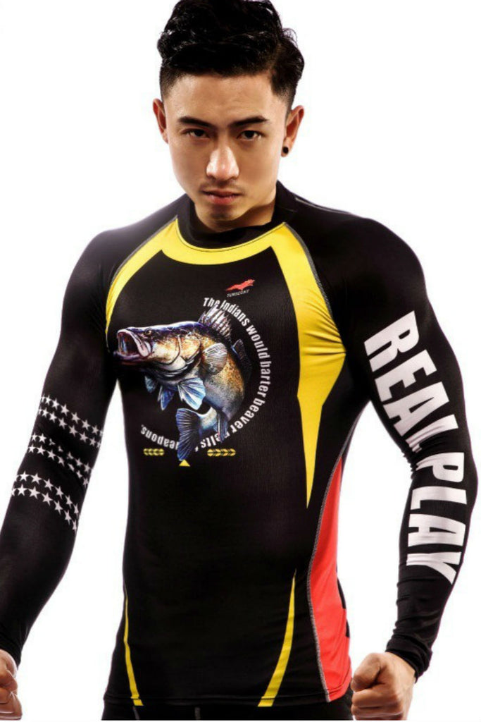 Fish Long Sleeve Compression Tee