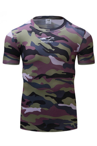 Camo Print Compression T-Shirt