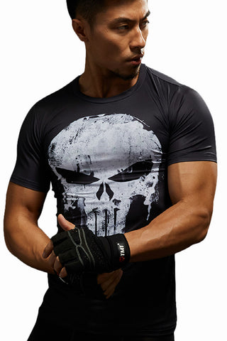 Skull Prints Compression Tee