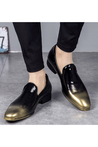 Gold Gradient Patent Loafer