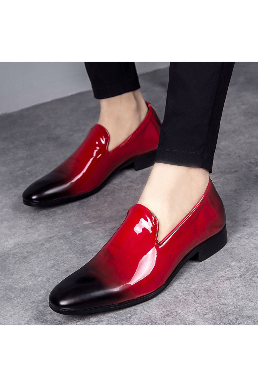 Red Gradient Patent Loafer