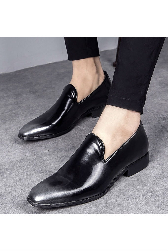 Silver Gradient Patent Loafer