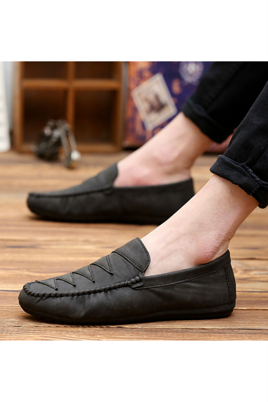 Men's Casual Loafers In Black