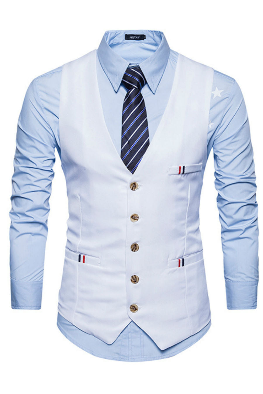 White Slim Fit Suit Vest