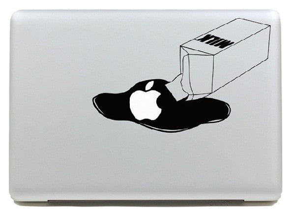 Macbook Milk Decal Sticker. Art Decals By Moooh!!