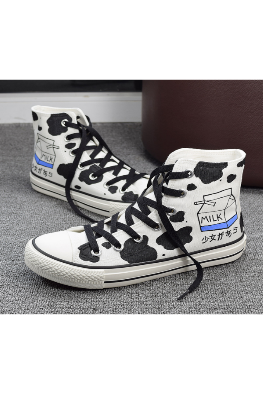 Milk Box Hand Painted Sneakers