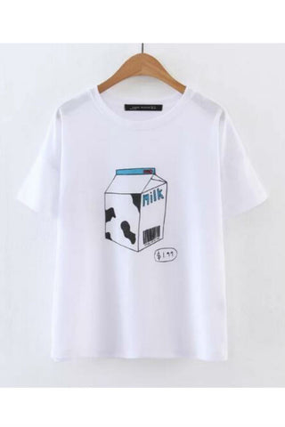 Milk Box Printed T-shirt