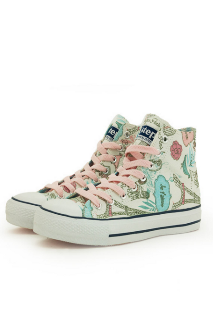 Cute Graffiti High Top Sneakers