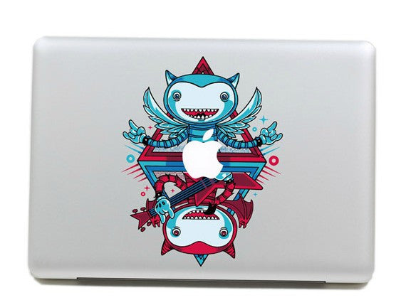 Macbook Happy Monsters Decal Sticker.Art Decals By Moooh!!
