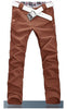 Man Slim Fit Dark Brown Pants