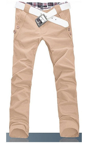 Man Slim Fit Pink Pants