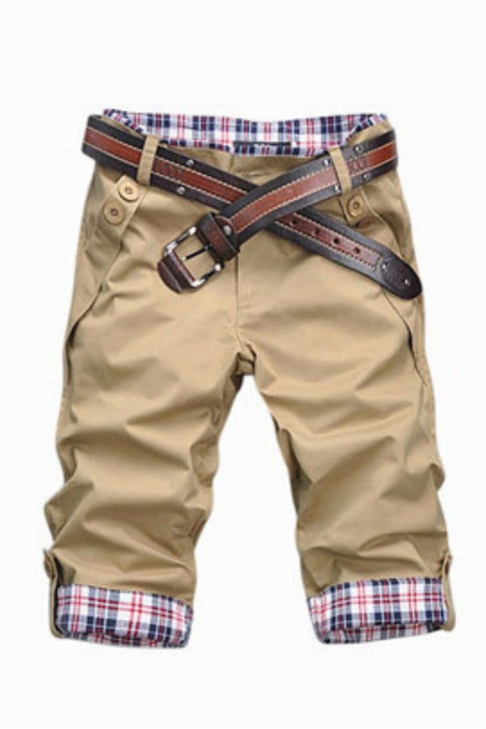 Man Slim Fit Shorts In Tan