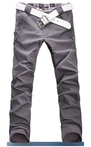 Man Slim Fit Grey Pants